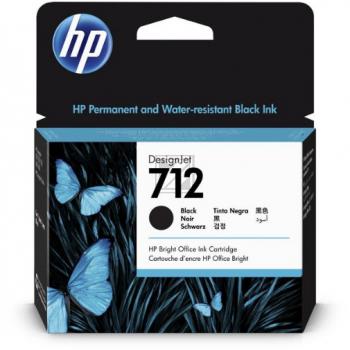 HP Tintenpatrone schwarz HC (3ED71A, 712)