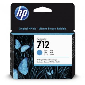 HP Tintenpatrone cyan (3ED67A, 712)