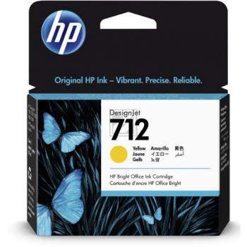 HP Tintenpatrone gelb (3ED69A, 712)