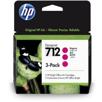 HP Tintenpatrone 3 x magenta (3ED78A, 712)