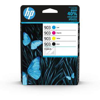 HP Tintenpatrone gelb, cyan, schwarz, magenta (6ZC73AE, 903)