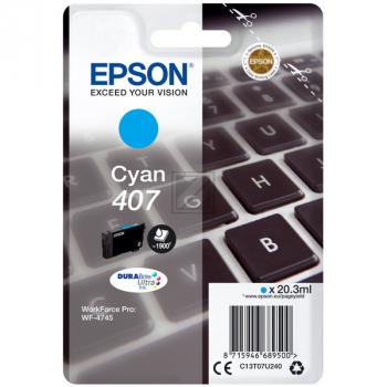 Epson Tintenpatrone cyan (C13T07U240)
