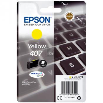 Epson Tintenpatrone gelb (C13T07U440)