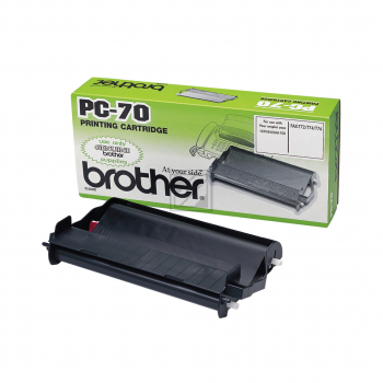 Brother Mehrfachkassette + 1 Thermo-Transfer-Rolle schwarz (PC-70)