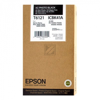 Epson Tintenpatrone photo schwarz HC (C13T612100, T6121)