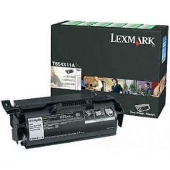 Lexmark Toner-Kartusche Prebate schwarz HC plus (T654X11A)