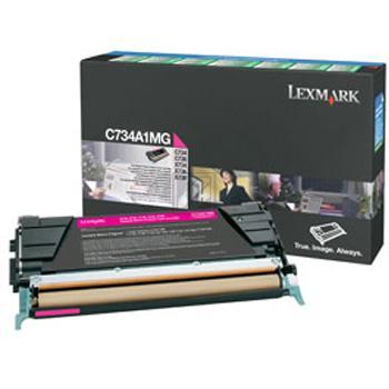 Lexmark Toner-Kartusche Prebate magenta (C734A1MG)