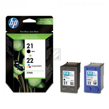 HP Tintendruckkopf cyan/gelb/magenta, schwarz (SD367AE, 21, 22)