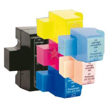 Emstar Tintenpatrone gelb, cyan, cyan light, schwarz, magenta, magenta light (10HPPS3210MULTI, H96) ersetzt 363, 363XL