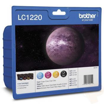 Brother Tintenpatrone gelb, cyan, schwarz, magenta (LC-1220VALBP)
