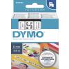 Dymo Schriftbandkassette schwarz/weiß (43613)