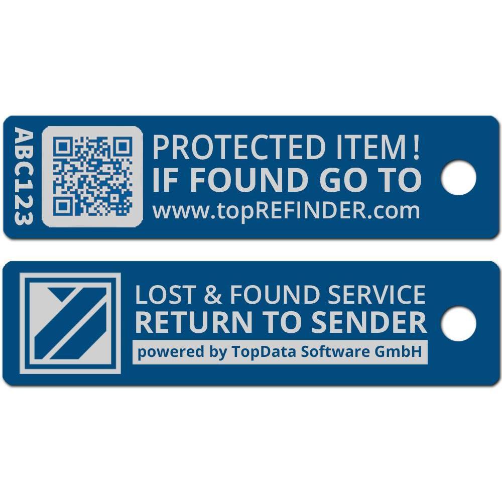 Hochwertiger Aluminium-Anhänger zur anonymen Kennzeichnung Ihres Eigentums, in Blau (Ideal zum Schutz Ihres Schlüssels vor Verlust)