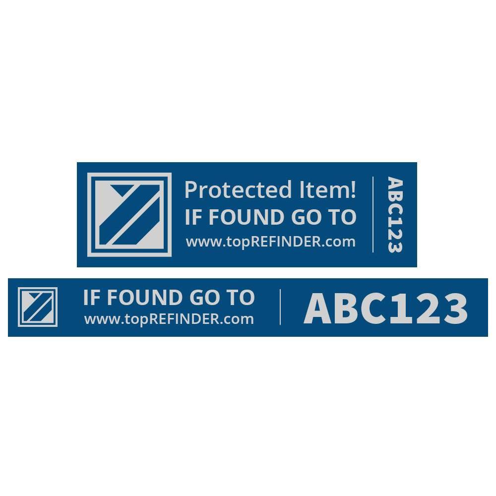 Aufkleber-Set (2x3) zur anonymen Kennzeichnung Ihres Eigentums, in Blau  (schützt Ihr Smartphone, ihren Notebook, Ihre Kamera uvm. vor Verlust)