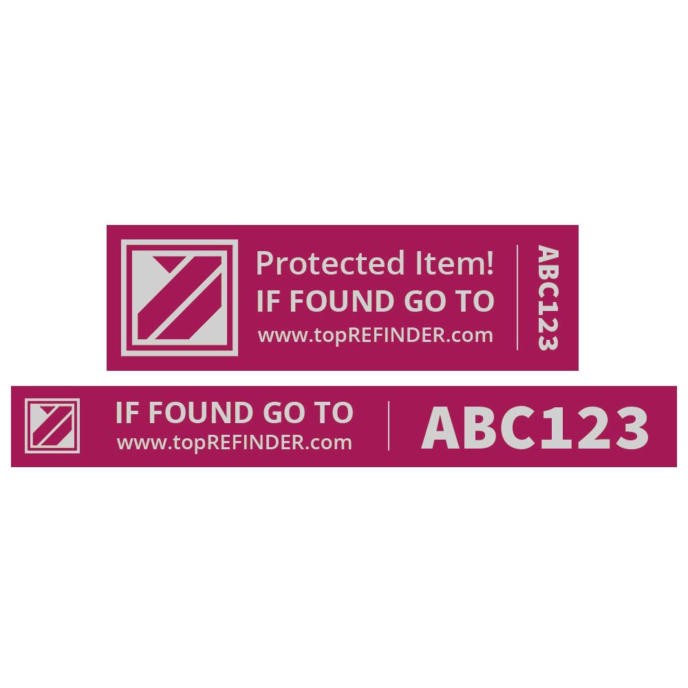 Aufkleber-Set (2x3) zur anonymen Kennzeichnung Ihres Eigentums, in Pink (schützt Ihr Smartphone, ihren Notebook, Ihre Kamera uvm. vor Verlust)