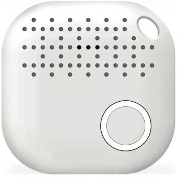 BluetoothFINDER - intelligenter Bluetooth-Anhänger mit Trackingfunktion in Weiß - zum schnellen Auffinden verlegter Gegenstände (zum Schutz Ihrer Schlüssel uvm.)