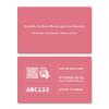 Hochwertige,  individuelle Plastikkarte im Kreditkartenformat zur anonymen Kennzeichnung Ihres Eigentums, in Pink  (zum Schutz Ihrer Geldbörse uvm.)
