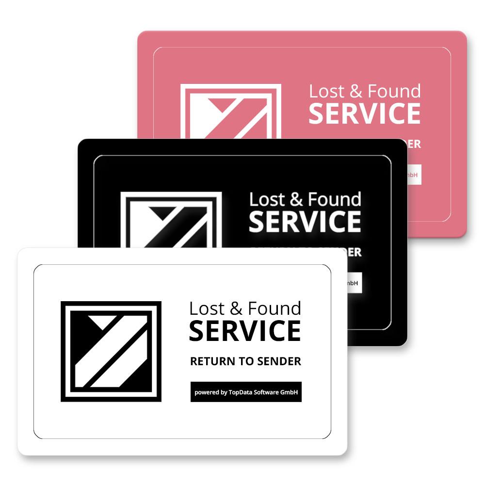 Hochwertige Plastikkarte im Kreditkartenformat zur anonymen Kennzeichnung Ihres Eigentums, in Weiß  (zum Schutz Ihrer Geldbörse uvm.)