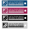 Hochwertiger Aluminium-Anhänger zur anonymen Kennzeichnung Ihres Eigentums, in Silber-Matt (Ideal zum Schutz Ihres Schlüssels vor Verlust)