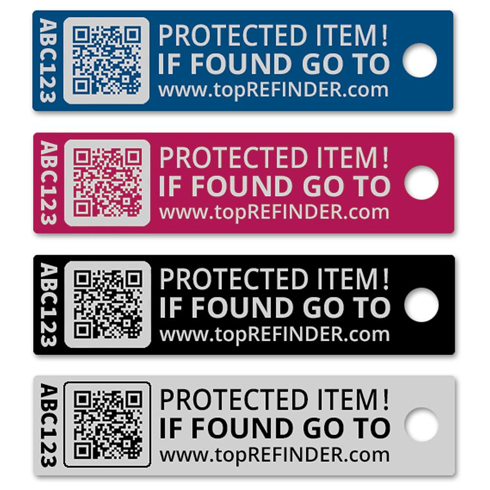 Hochwertiger Aluminium-Anhänger zur anonymen Kennzeichnung Ihres Eigentums, in Schwarz (Ideal zum Schutz Ihres Schlüssels vor Verlust)
