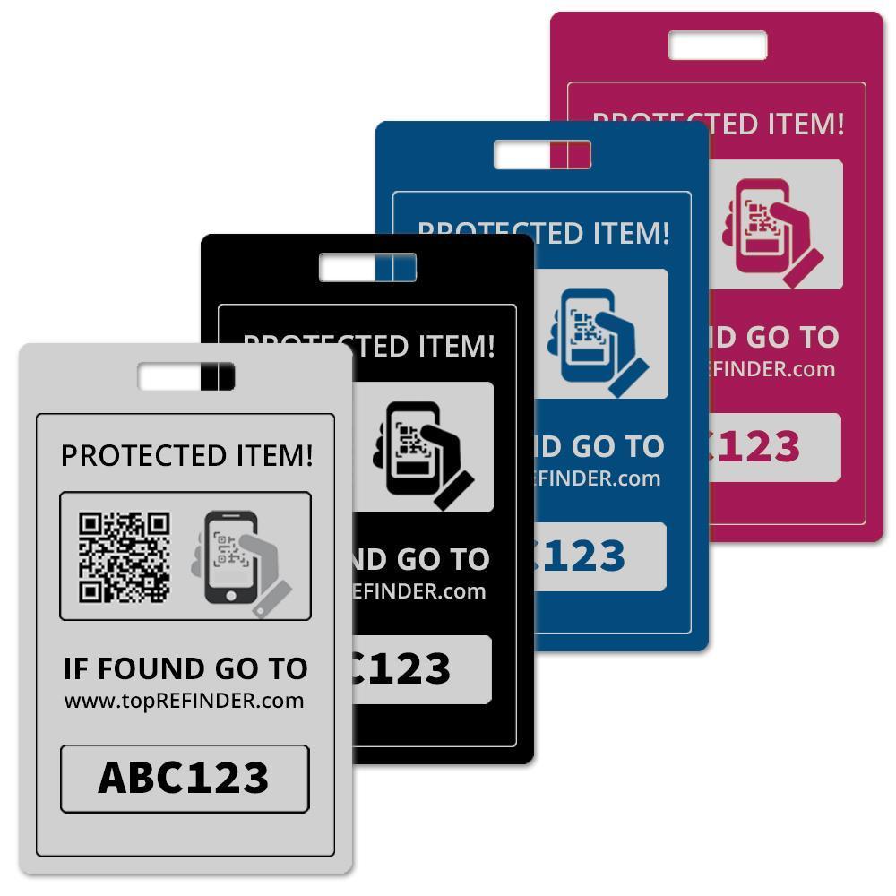 Hochwertiger Universal Aluminium-Anhänger zur anonymen Kennzeichnung Ihres Eigentums, in Blau (schützt Ihre Taschen, Koffer, Rucksäcke uvm. vor Verlust)