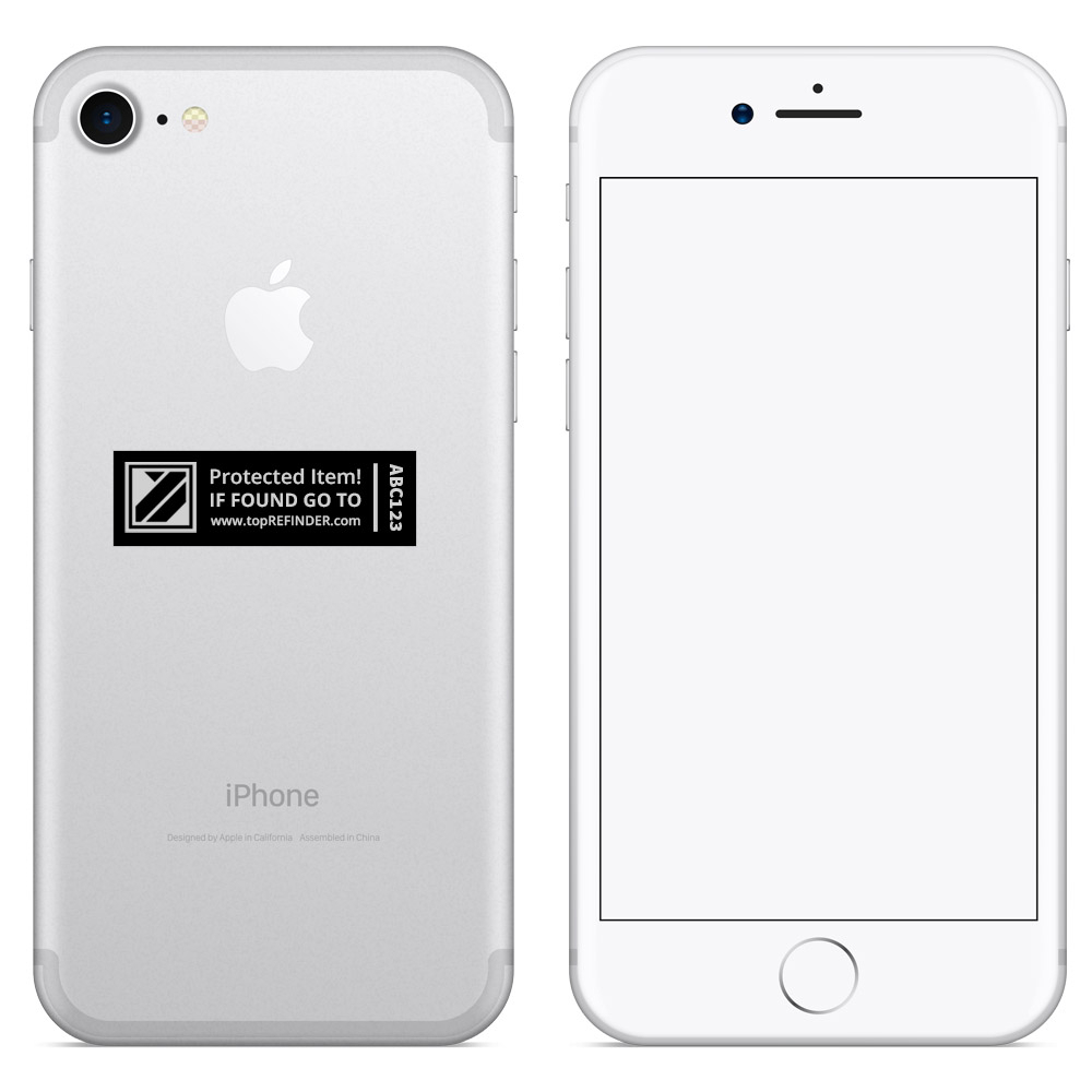 Aufkleber-Set (2x3) zur anonymen Kennzeichnung Ihres Eigentums, in Schwarz (schützt Ihr Smartphone, ihren Notebook, Ihre Kamera uvm. vor Verlust)