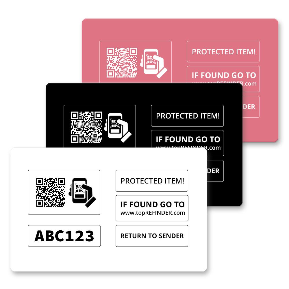 Hochwertige Plastikkarte im Kreditkartenformat zur anonymen Kennzeichnung Ihres Eigentums, in Schwarz  (zum Schutz Ihrer Geldbörse uvm.)