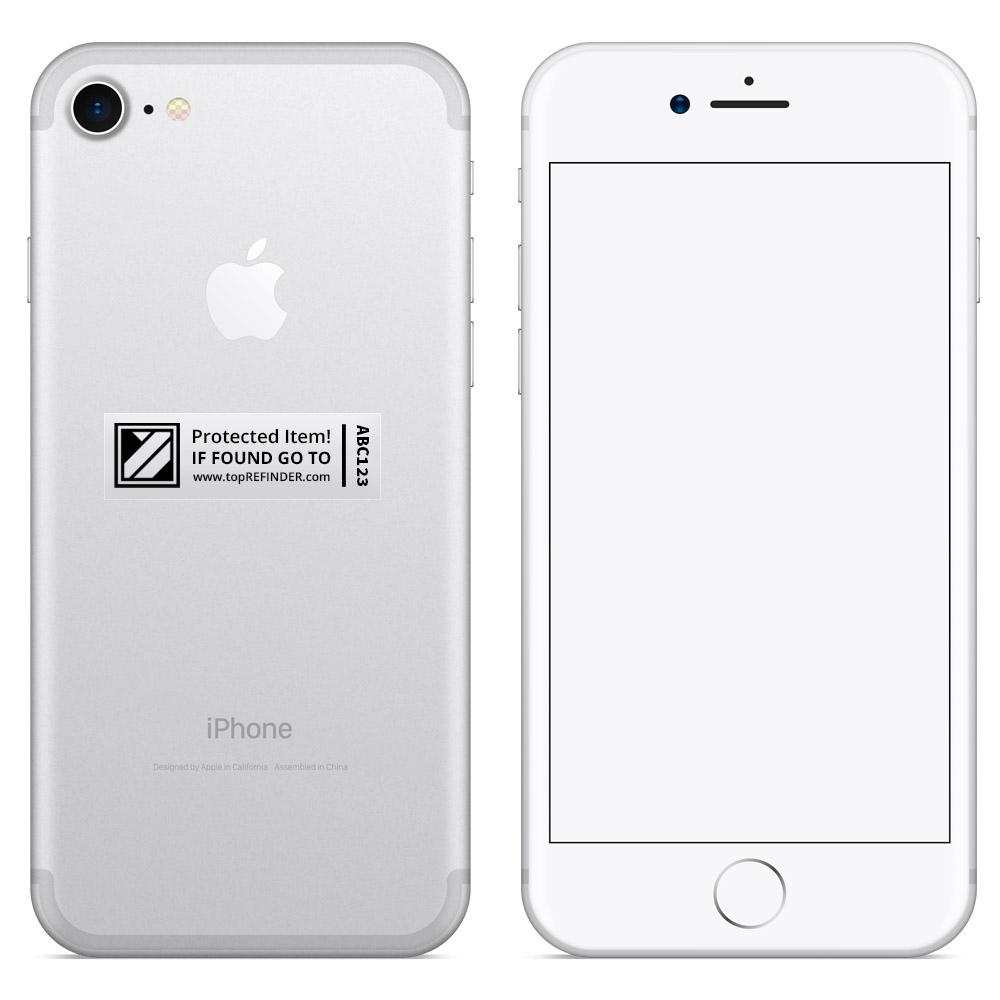 Aufkleber-Set (2x3) zur anonymen Kennzeichnung Ihres Eigentums, in Transparent (schützt Ihr Smartphone, ihren Notebook, Ihre Kamera uvm. vor Verlust)