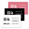 Hochwertige,  individuelle Plastikkarte im Kreditkartenformat zur anonymen Kennzeichnung Ihres Eigentums, in Weiß  (zum Schutz Ihrer Geldbörse uvm.)