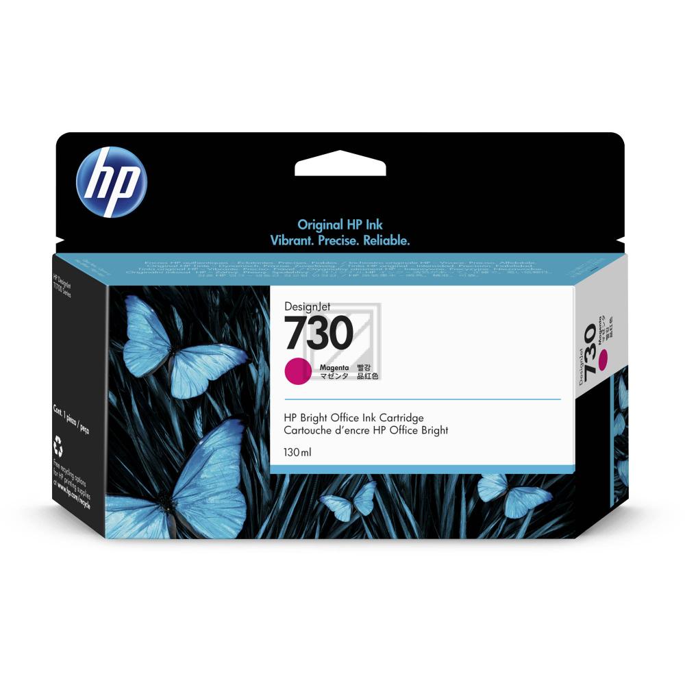HP Tintenpatrone magenta SC (P2V63A, 730)