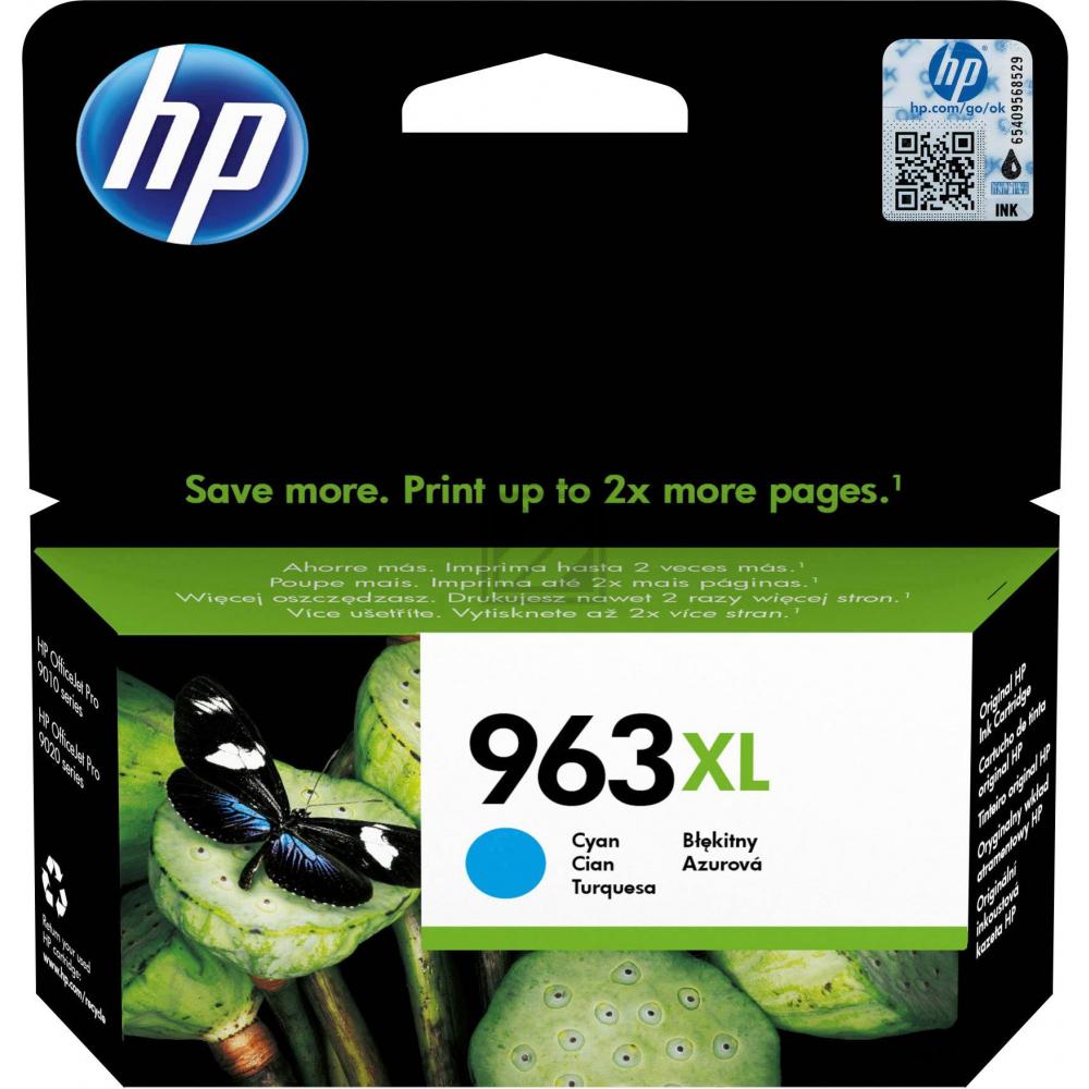 HP Ink Cart. 3JA27AE No. 963XL für Office Jet Pro  / 3JA27AE // cyan