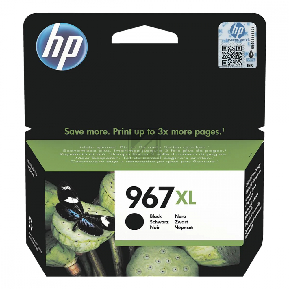 HP Ink Cart. 3JA31AE No. 967XL für Office Jet Pro  / 3JA31AE