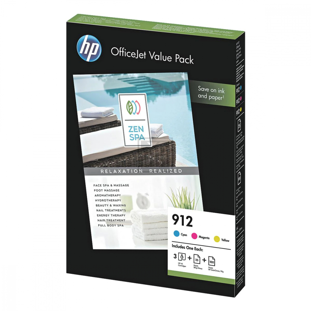 3 HP Value Pack 912 (6JR41AE) cyan, magenta, gelb  / 6JR41AE