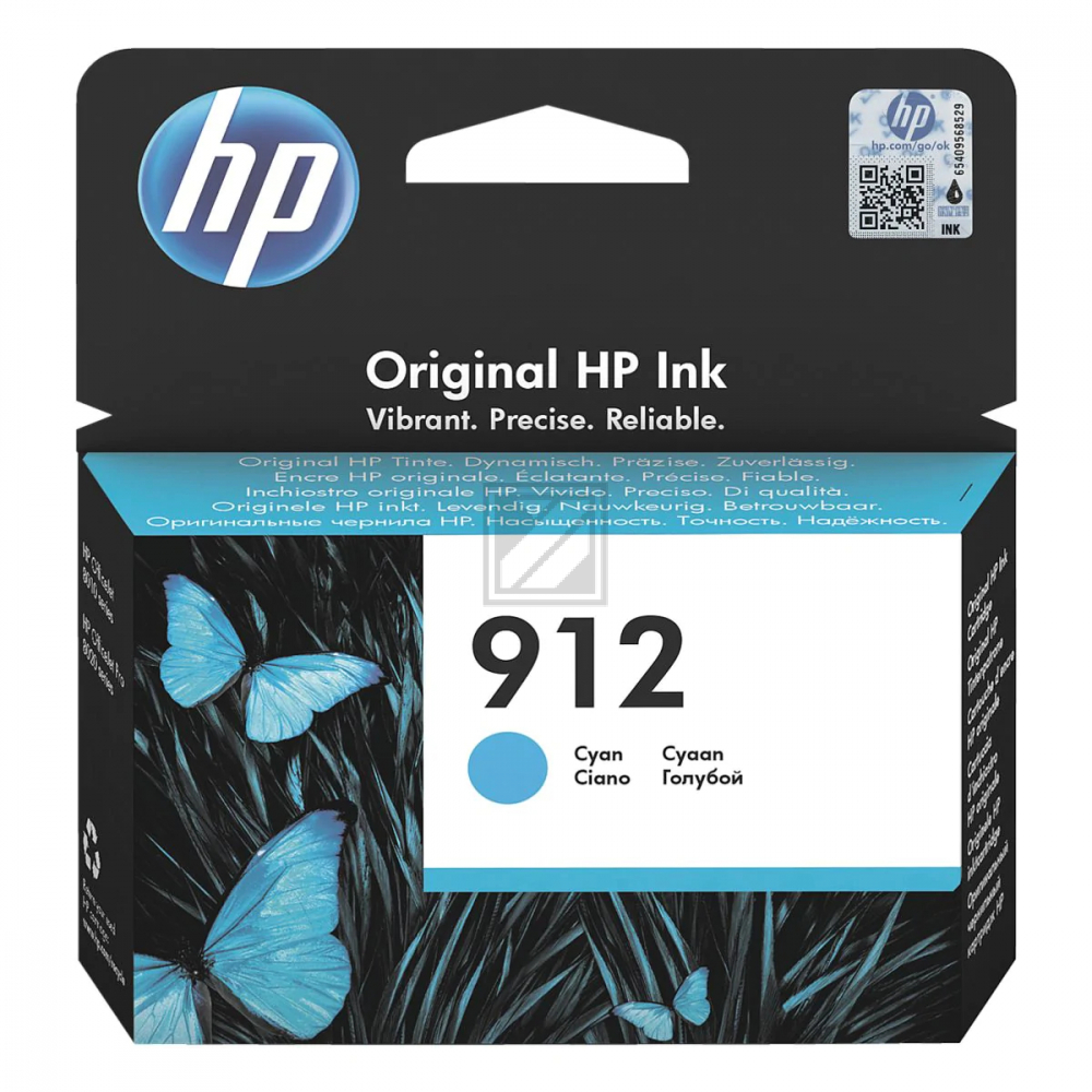 3YL77AE //HP Ink Cart. No. 912 // cyan / 3YL77AE / für Office Jet 8012