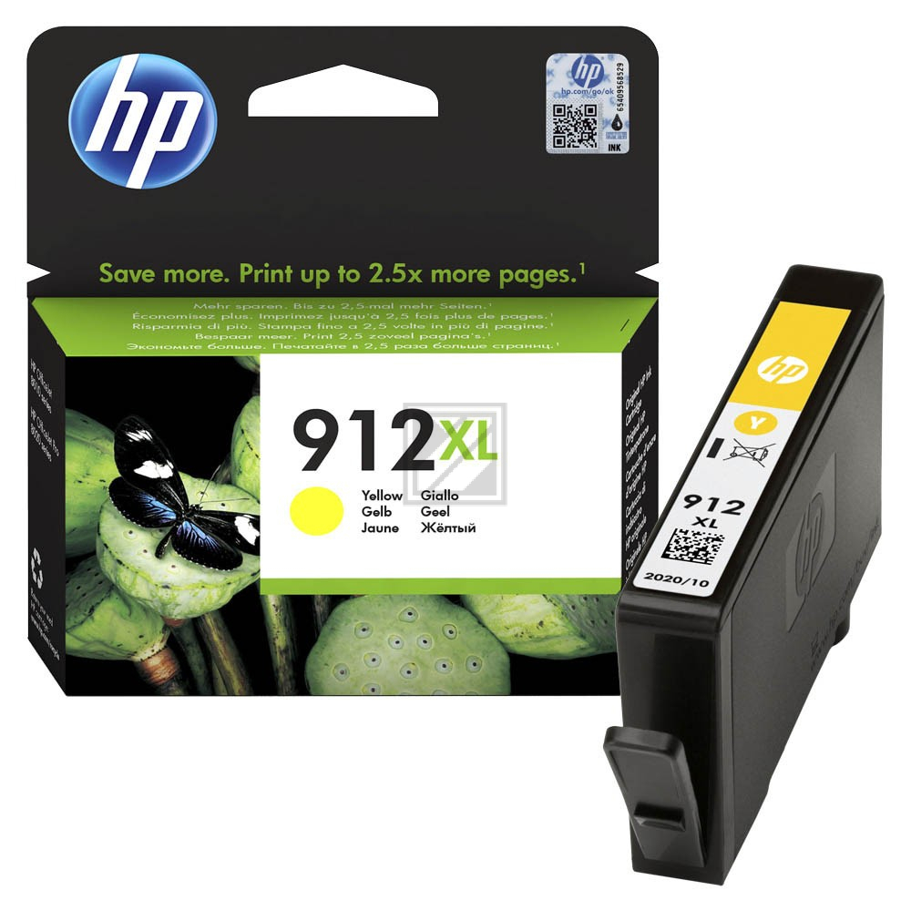 3YL83AE // yellow // HP Ink Cart. No. 912XL / 3YL83AE