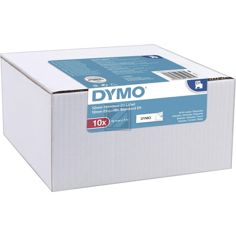 DYMO Beschriftungsbänder D1 schwarz auf wei 12 mm / 2093097