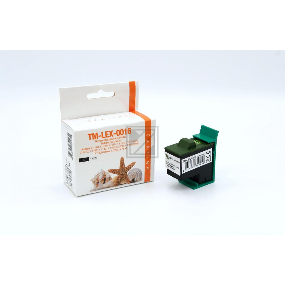 Refill Tinte Black für Lexmark / 10N0016 / 14ml