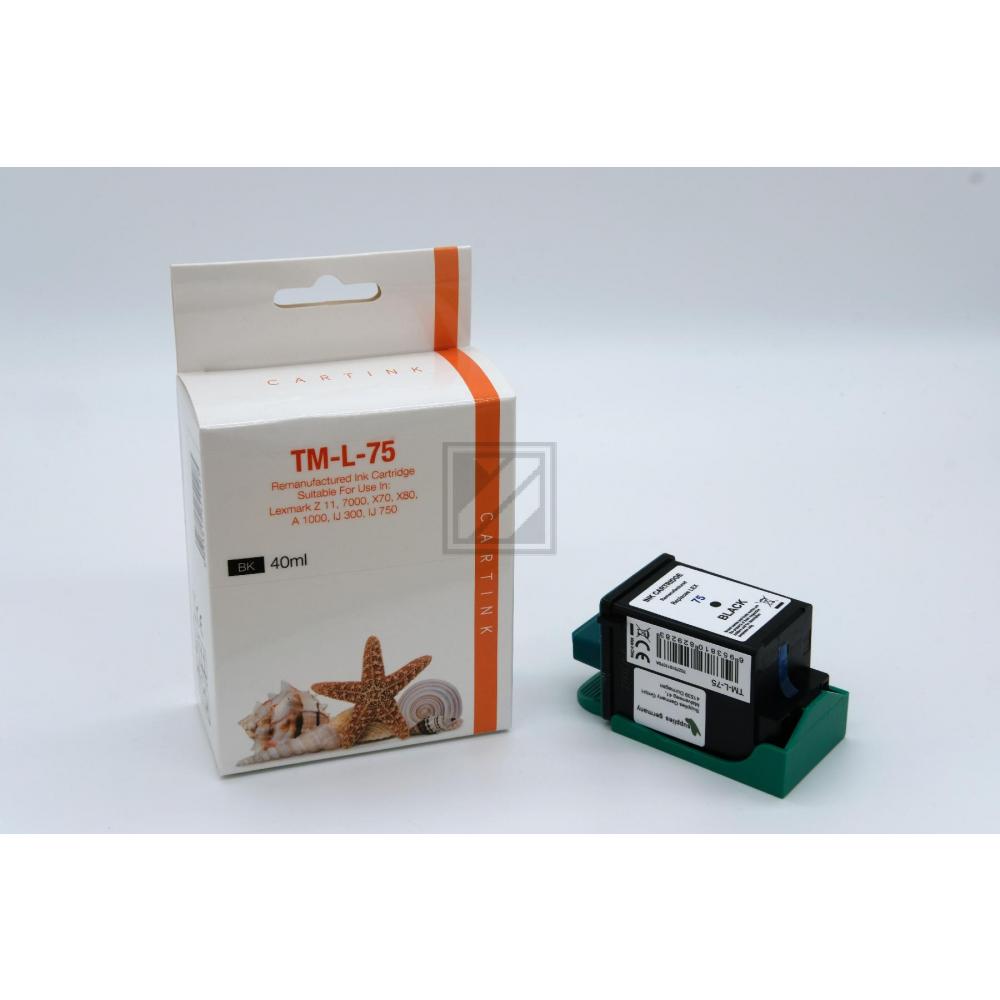 Refill Tinte Black für Lexmark / 12A1975 /Nr. 75 / 40ml