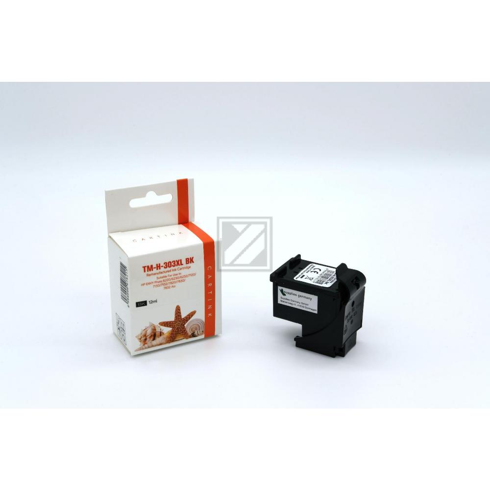Refill Tinte Black für HP / T6N04AE / 12ml