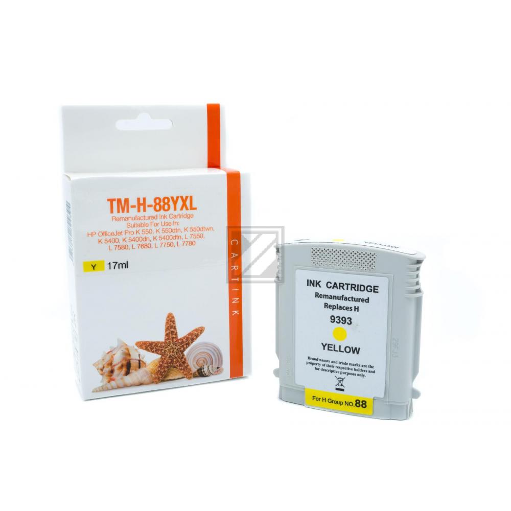 Refill Tinte Yellow für HP / C9393A / 17ml