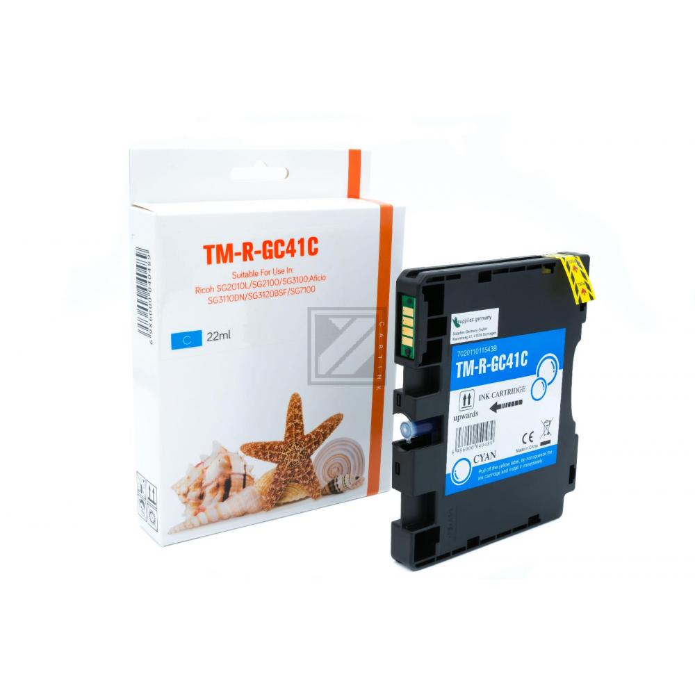 Refill Tinte Cyan für Ricoh / 405762 / 2.200 Seiten