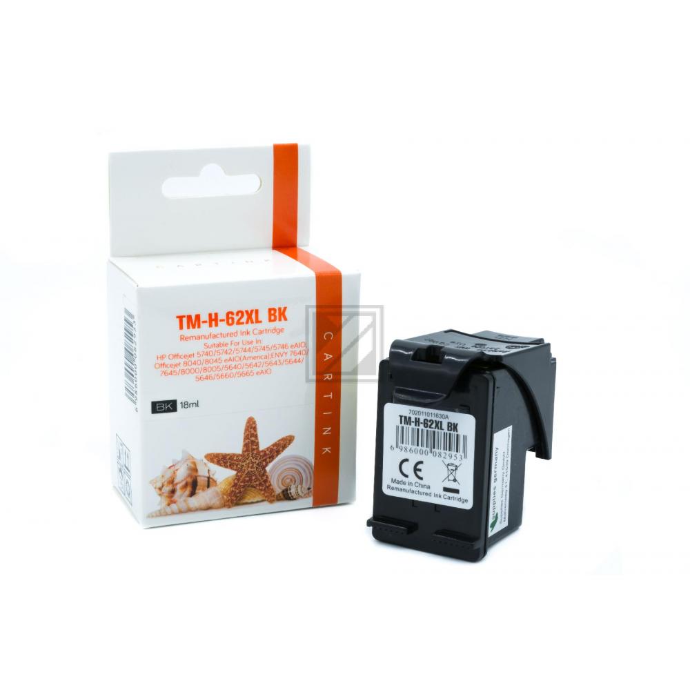 Refill Tinte Black für HP / C2P05AE / 12ml