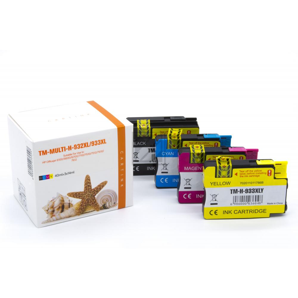 Alternativ Tinte für HP / CN053AE / BK40ml / C,M,Y14ml