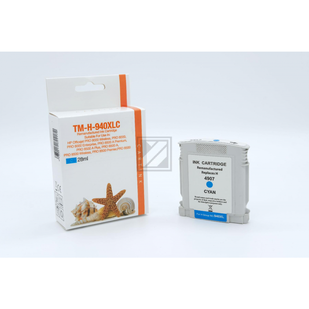 Refill Tinte Cyan für HP / C4907AE / 28ml