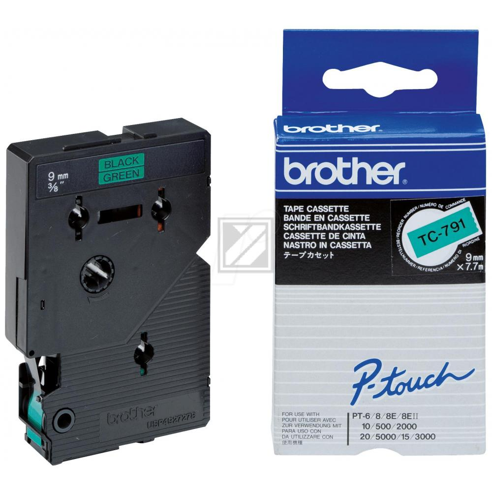 BROTHER P-TOUCH 9MM GRÜN/SCHW.