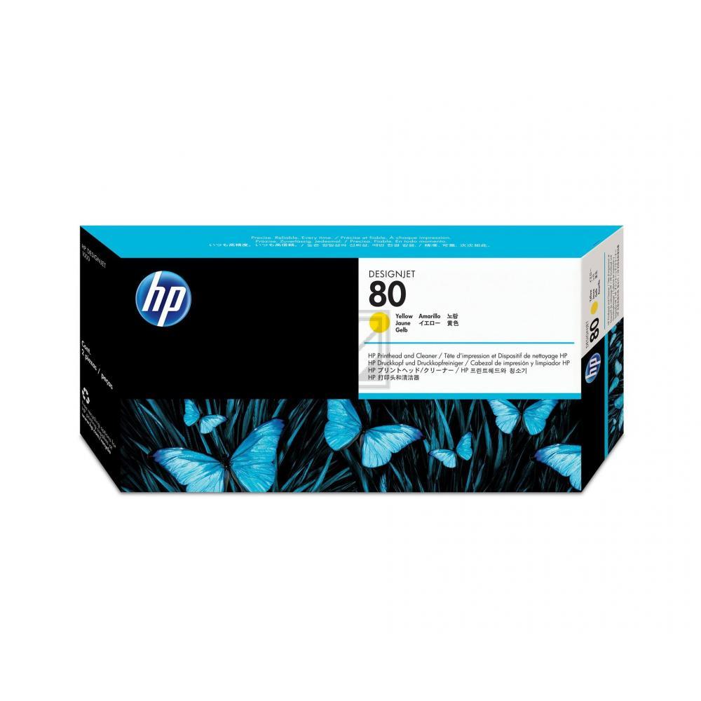 HP DJ 1050C/1055CM DRUCKKOPF / DRUCKKOPFREINIGER NO.80 GELB