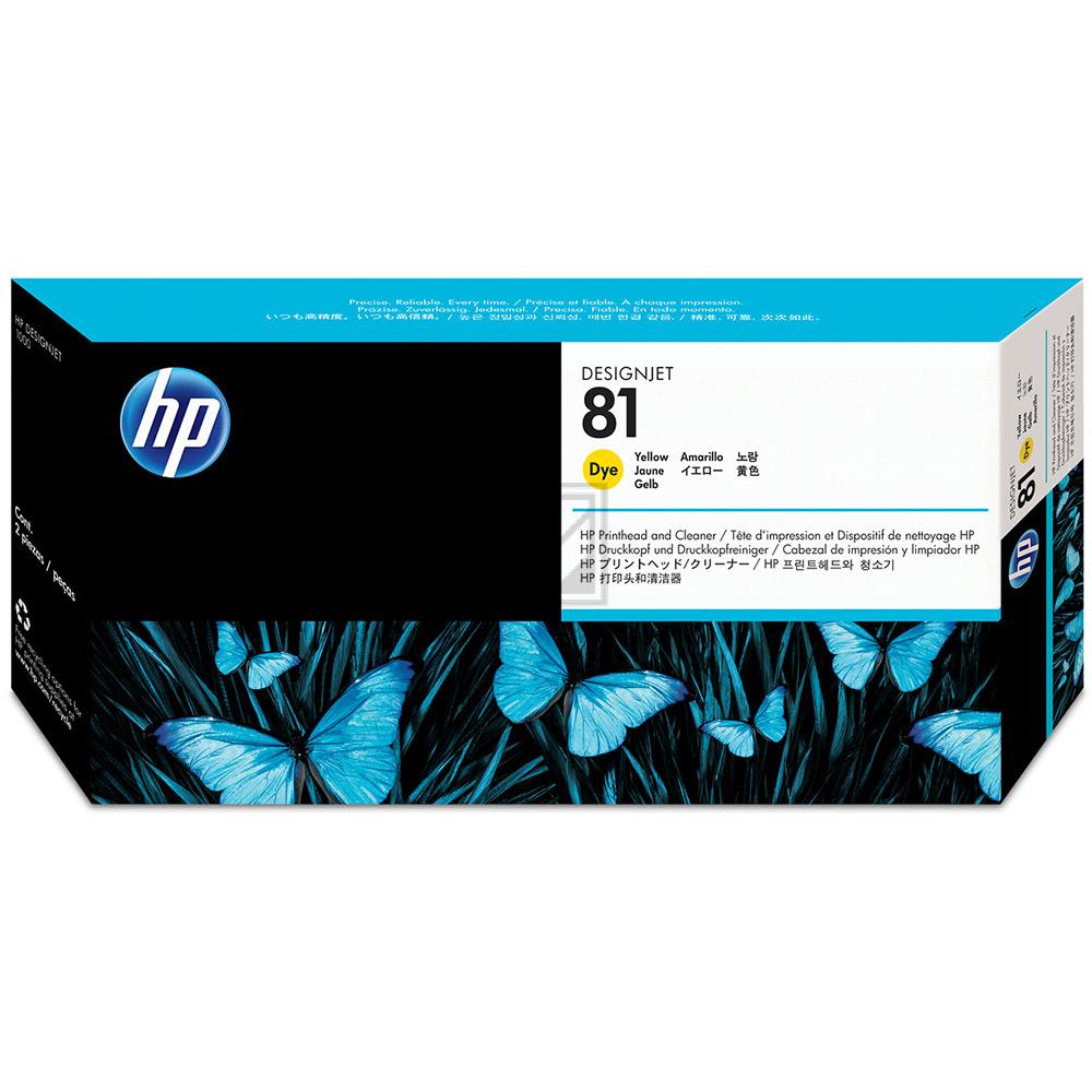HP DESIGNJET 5000/5000PS DRUCKKOPF + REINIGER GELB NO.81