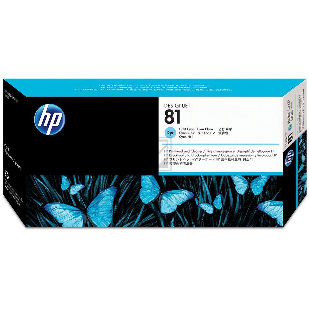 HP DESIGNJET 5000/5000PS DRUCKKOPF + REINIGER LIGHT CYAN NO.81