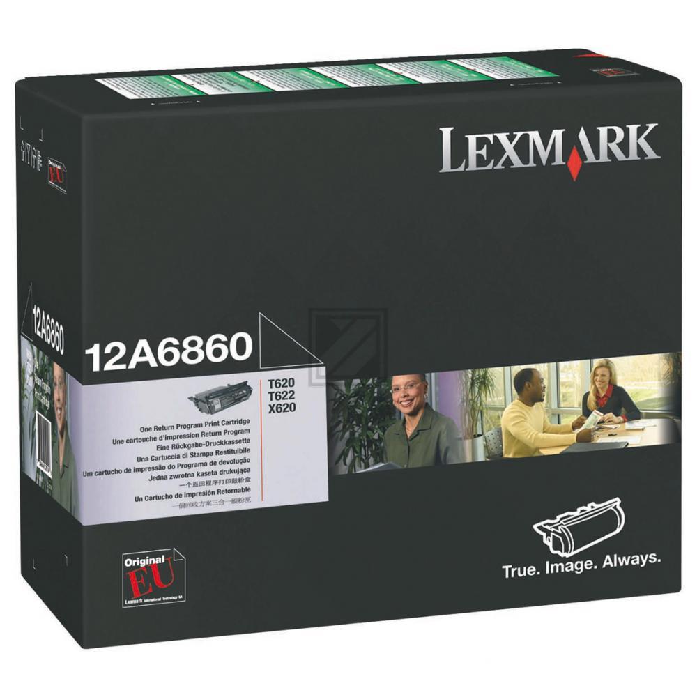 LEXMARK 12A6860 | 10000 Seiten, LEXMARK Tonerkassette, schwarz
