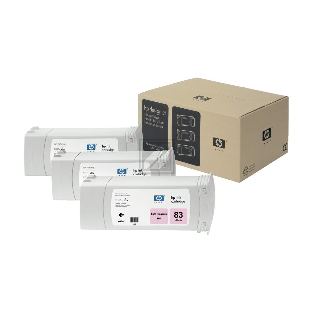 HP 83 Original UVbestaendige Tinte hell magenta  / C5077A //  C5077A
