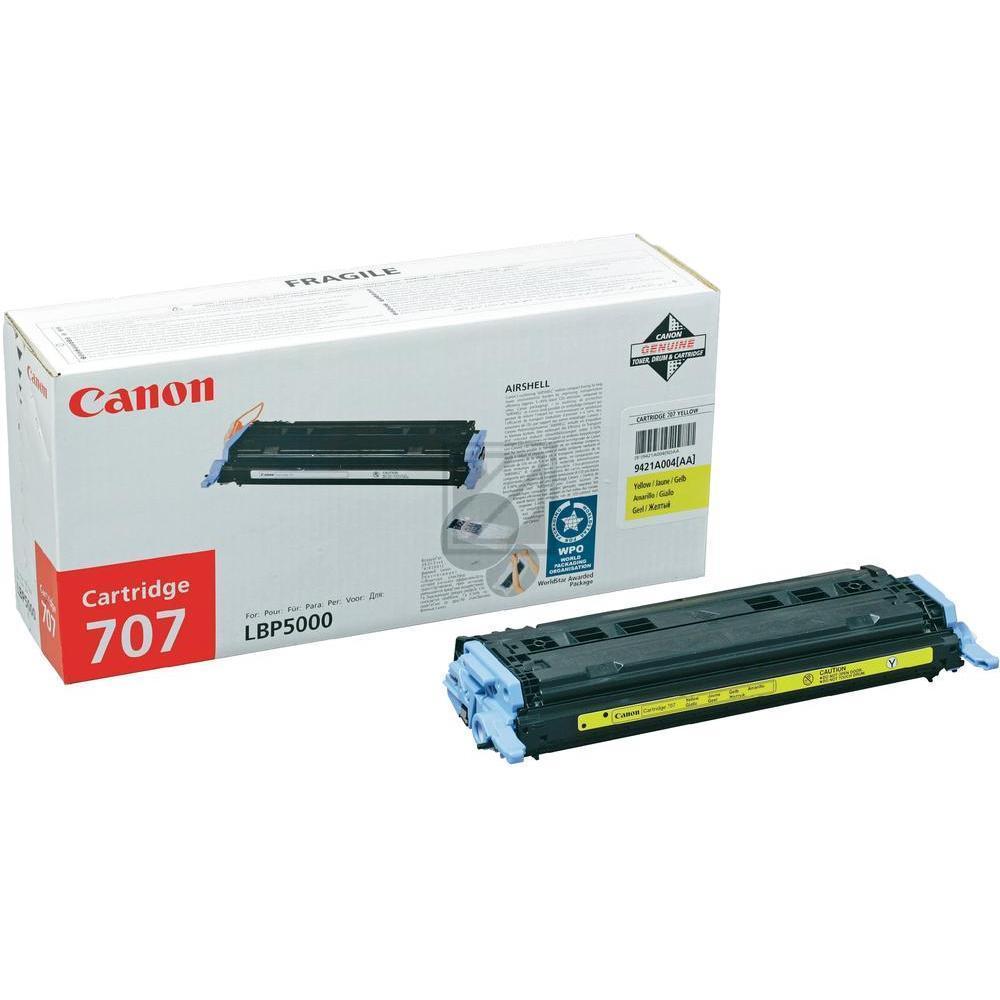 Original Canon 9421A004 / 707Y Toner Gelb